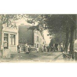 54 POMPEY. Joueurs de Boules en bois Avenue Gambetta 1905