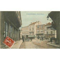 26 SAINT VALLIER SUR RHONE. Hôtels du Commerce et des Voyageurs Place Orme 1909