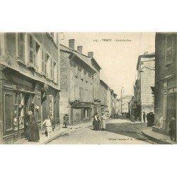 43 TENCE. Chapellerie sur Grande Rue 1922