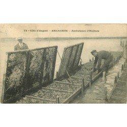 33 ARCACHON. Ambulance d'Huîtres avec Pêcheurs Ostréiculteur 1909