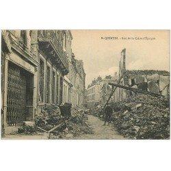 carte postale ancienne 02 SAINT-QUENTIN. Rue de la Caisse d'Epargne 1922