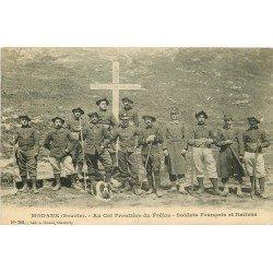 73 MODANE. Soldats Italiens et Français à la Frontière du Fréjus 1911