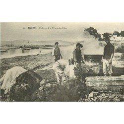 83 HYERES. Pêcheurs à la Teinte des Filets de pêche