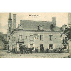 49 BAUNE. Attelages Hôtel de la Boule d'Or tenu par Coulommier 1912