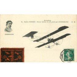 AVIATION. Biplan Sommer moteur Gnôme par Kimmerling Vignette 1911 Aéroplane et Avion