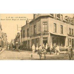 62 LE PORTEL. Café Félix rues Victor Hugo et Amiral Courbet