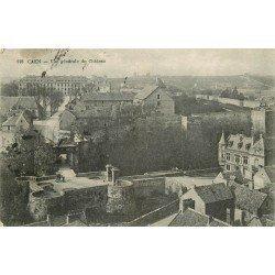 carte postale ancienne 14 CAEN. Vue du Château 1923