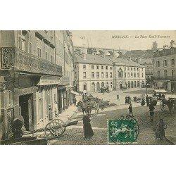 29 MORLAIX. Magasin de machines à coudre Singer et Confiserie Place Emile Souvestre 1908