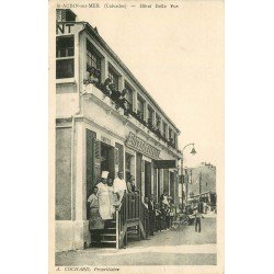 14 SAINT-AUBIN-SUR-MER. Buvette Café Restaurant Hôtel Belle Vue propriétaire Cochard