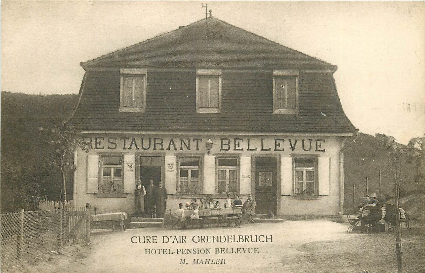 67 GRENDELBRUCH. Hôtel Pension Restaurant Bellevue tenu par Mahler