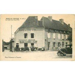 71 MONT-SAINT-VINCENT. Café du Coq d'Or Restaurant Gruthier et Gendarmerie