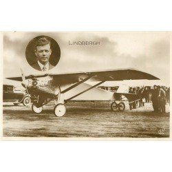 AVIATION. Aviateur Lindbergh et aéroplane le Spirit of Saint Louis