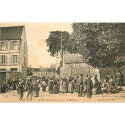 95 PONTOISE. Jour de Marché rue Victor Hugo