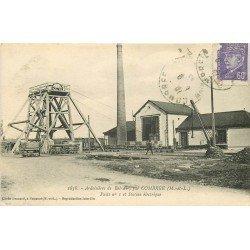 49 COMBREE. Ardoisières de Bel-Air avec Puits et Station électrique 1943
