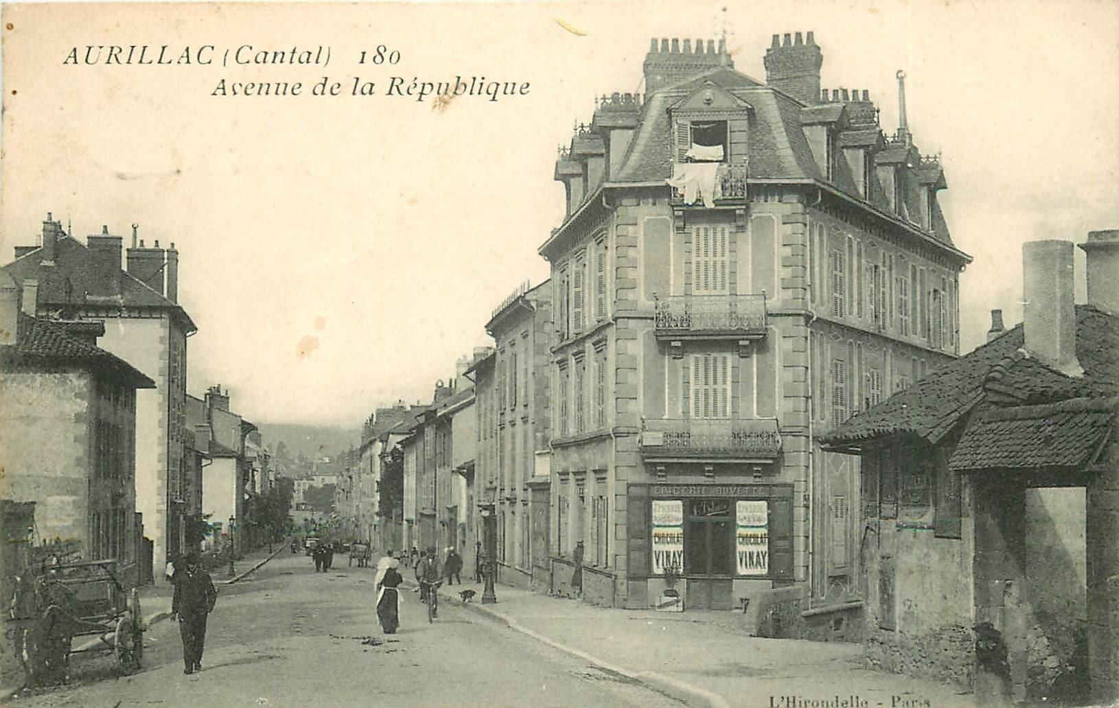 15 AURILLAC. Buvette Epicerie Avenue de la République vers 1909