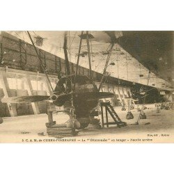BALLON DIRIGEABLE. Le Dixmude de Cuers Pierrefeu nacelle arrière au Hangar