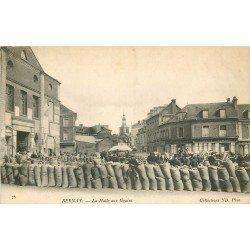 27 BERNAY. La Halle aux Grains devant le Café Suplice 1905
