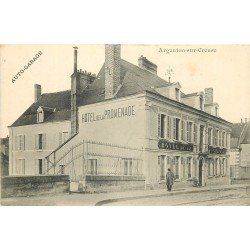 36 ARGENTON-SUR-CREUSE. Hôtel de la Promenade et son Garage