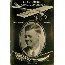 AVIATION. Aviateur Lindbergh Aéroplane Avion Meeting New York Paris 1927