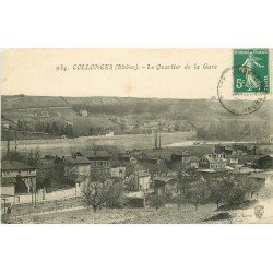 69 COLLONGES. Le Quartier de la Gare 1911