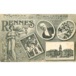 35 RENNES. Concours de Gymnastique avec le Président Poincaré 1914