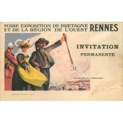 35 RENNES. Carton invitation pour la Foire Exposition de Bretagne