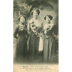 35 RENNES. Fête des Fleurs la Reine et ses Demoiselles d'Honneur en 1912