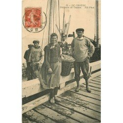 80 LE CROTOY. Pêcheurs de Coques 1912 Métiers de la Mer (petit défaut)