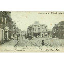 """59 ARMENTIERES. Epicerie Salomé et le Café """"Au Bon Coin"""" rue de Lille 1903"""