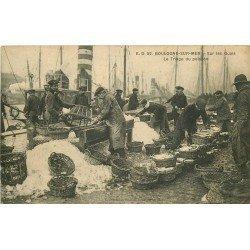 62 BOULOGNE-SUR-MER. Le Triage du Poisson sur les Quais. Timbre taxe de 10 centimes 1915
