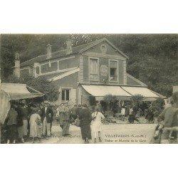 77 VILLEPARISIS. Tabac et Marché de la Gare 1935 Restaurant du Pont de Mitry