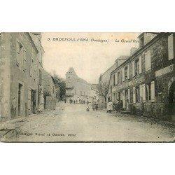 24 BADEFOLS D'ANS. Epicerie Mercerie Vaysse sur Grand Rue 1935