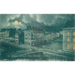 35 RENNES. De nuit Place Pasteur 1910