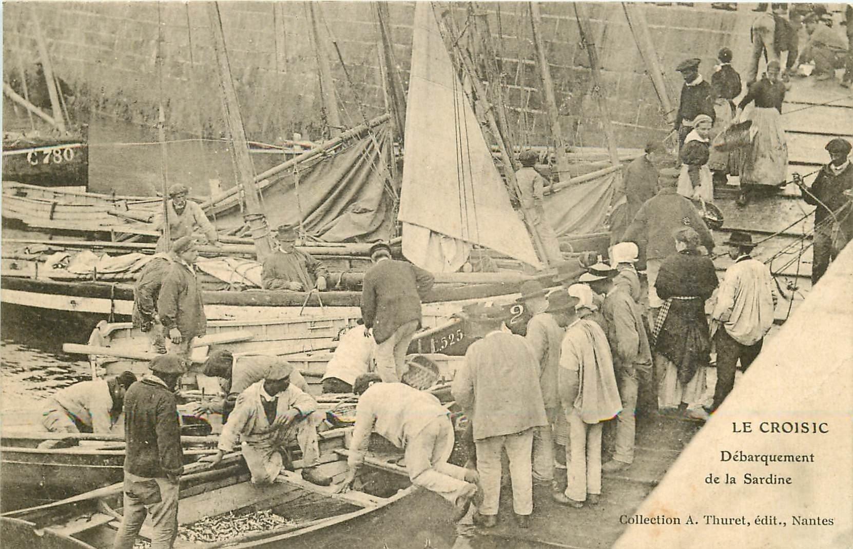 44 LE CROISIC. Débarquement de la Sardine par les Pêcheurs