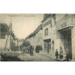 64 OGEU-LES-BAINS. Mercerie Epicerie Larroude & Brous sur rue Principale 1937