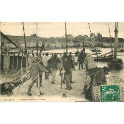 35 CANCALE. Débarquement des Pêcheurs. Métiers de la Mer 1915