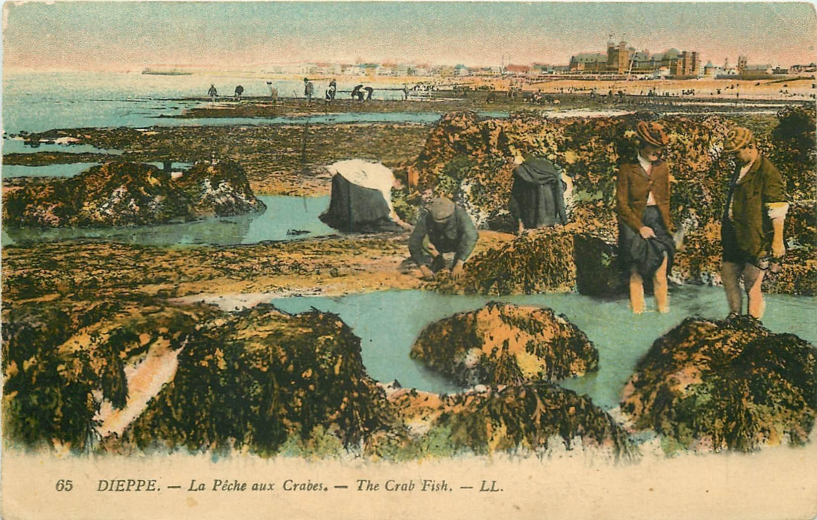 76 DIEPPE. La Pêche aux Crabes. Edition LL.