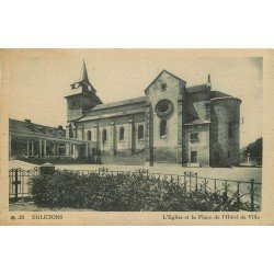 19 EGLETON. Eglise Place Hôtel de Ville 1946