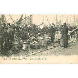 62 BOULOGNE-SUR-MER. Le Marché des Pieds Humides vers 1900