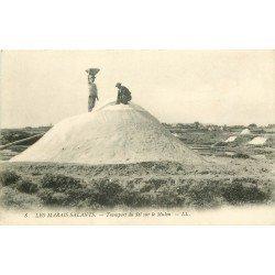 44 LES MARAIS SALANTS. La Récolte du Sel sur le Mulon