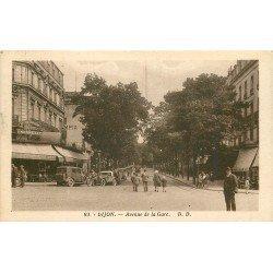 21 DIJON. Voitures devant la Brasseie Amourette Avenue de la Gare 1935