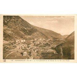 66 FONTPEDROUSE. Le Village sur la Vallée de la Têt vers Thuès