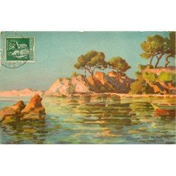 83 HENRY RAYMOND. La Côte d'Azur vers le Cap Brun 1937