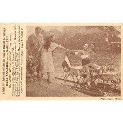 SPORTIFS. Le Champion Savard sur hydrocycle avec Mistinguette pour traversée de la Manche