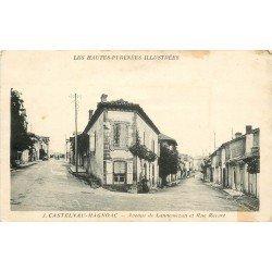 65 CASTELNAU-MAGNOAC. Avenue de Lannemezan et Rue Recurt 1939
