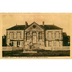 18 ALLOGNY. Mairie et Monument aux Morts 1947