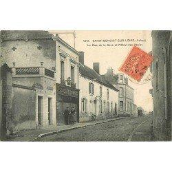45 SAINT-BENOIST-SUR-LOIRE. Postes et Télégraphes rue de la Gare 1934
