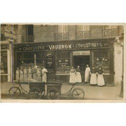 PARIS XVI. Charcuterie Vaudron 61 Avenue de la Grande Armée. Photo carte postale ancienne