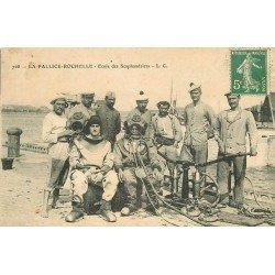17 LA PALLICE-ROCHELLE. Ecole de Scaphandriers 1908 métiers de la Mer