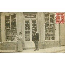 21 MONTBARD. Horlogerie Bijouterie Chavit Sommet au 9 et 11 rue de la Liberté. Photo carte postale rare 1908